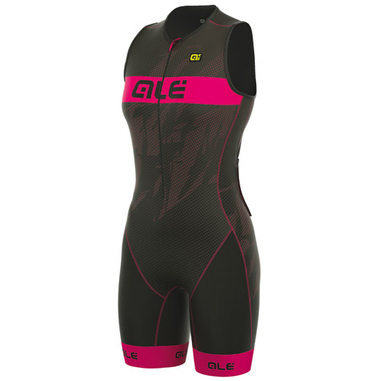 Body Ale Tri Record Zip Fronte - Rosa