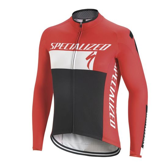Maglia M/L Specialized Element RBX Comp Logo 2017 - Rosso